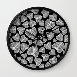 Black White Pattern Wall Clock