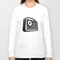 transistor Long Sleeve T-shirts featuring TRANSISTOR RADIO PORTABLE by Sofia Youshi