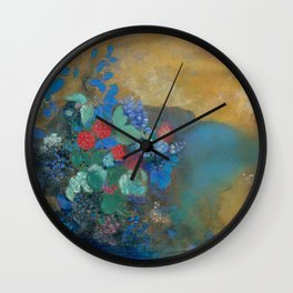 Odilon Redon - Ophelia Among The Flowers Wall Clock