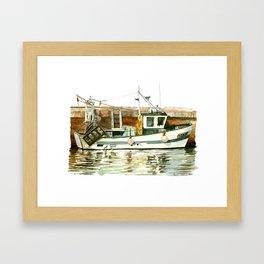 Honfleur - Pêche Traditionnelle Framed Art Print