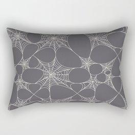 Spiderweb Pattern in Black Rectangular Pillow
