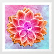 abstract dahlia  Art Print