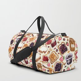 Peanut Butter and Jelly Watercolor Duffle Bag