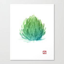 Blue Agave Cactus Canvas Print