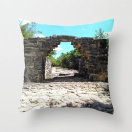 A Mayan Archway Throw Pillow