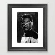geordi Framed Art Print