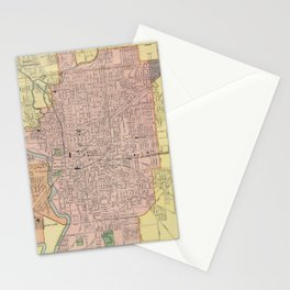 Vintage Map of Indianapolis Indiana (1903) Stationery Cards
