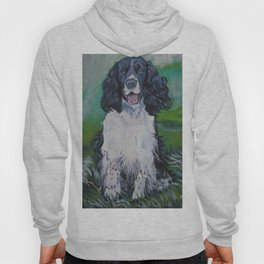 English Springer Spaniel dog art from an original painting by L.A.Shepard Hoody
