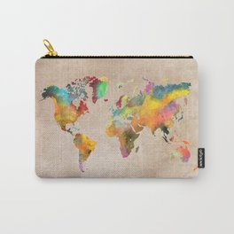 World map 1 Carry-All Pouch