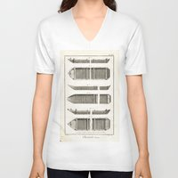 boats V-neck T-shirts featuring Boats by Le petit Archiviste