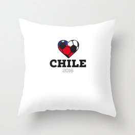 Chile Soccer Shirt 2016 Throw Pillow