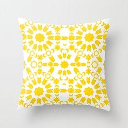 Golden Arabesque Throw Pillow