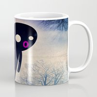 onesie Mugs featuring omino_ solitario by Marco Puccini