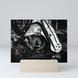 Poltery Site (Wood Storage Area) After Storm Victoria Möhne Forest 10 bw Mini Art Print