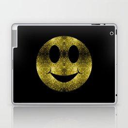 Sparkly Smiley Yellow Gold sparkles Laptop & iPad Skin