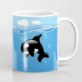 Orca, Cute Killer Whale Coffee Mug