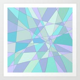 Shattered Purple & Green Art Print