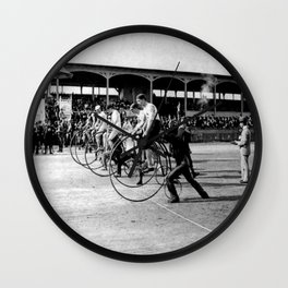 Bicycle race Wall Clock
