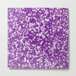 Winterberry Pixels Metal Print