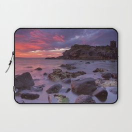 Spectacular sunrise at Kinbane Castle in Northern Ireland Laptop Sleeve