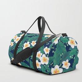 Plumeria Pattern Duffle Bag