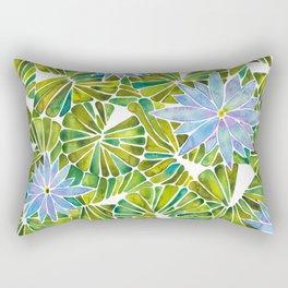 Water Lilies – Lavender & Green Palette Rectangular Pillow