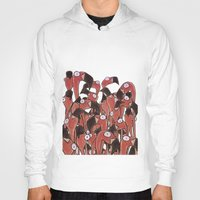 flamingos Hoodies featuring Flamingos by Ollie Bright Art