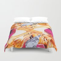 rihanna Duvet Covers featuring Rihanna by GREATeclectic