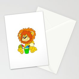 Cartoon lion Stationery Cards