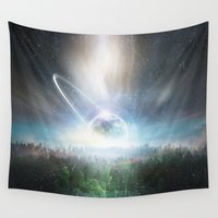 cup Wall Tapestries featuring Death cup by HappyMelvin