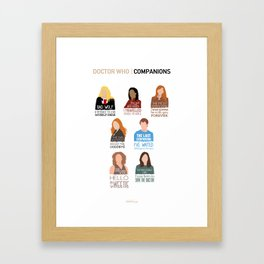 Doctor Who | Companions (alternate version) Framed Art Print
