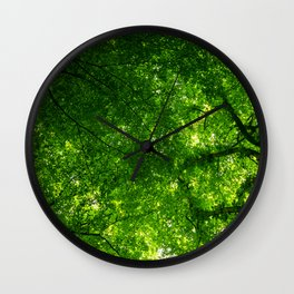 Canopy of leaves Wall Clock