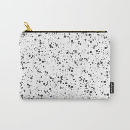 White with Black Splatter Carry-All Pouch