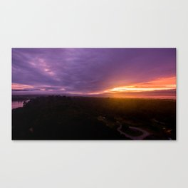 mahinapua golden hours Canvas Print