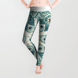 Colorful vintage tunicate ilustration Leggings