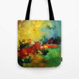 Colorful Landscape Abstract Art Print Tote Bag