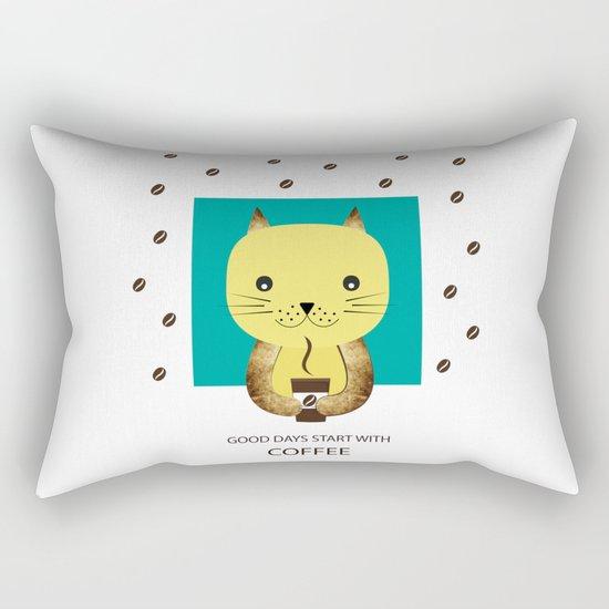 Good days start with coffee Rectangular Pillow
