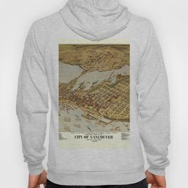 Vintage Pictorial Map of Vancouver BC (1898) Hoody