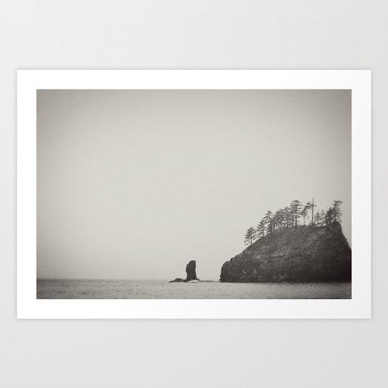 Beach Black and White Art Print