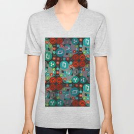 Сryptocurrencies funny pattern Unisex V-Neck