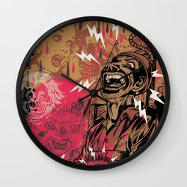 SHOCKING TERRORS Wall Clock