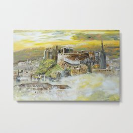 Edinburgh S052 Large impressionism acrylic painting art by artist Ksavera Metal Print