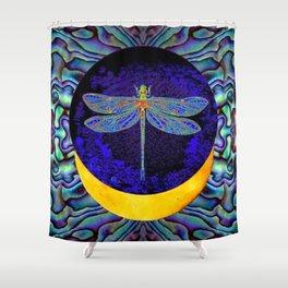 Mystical Midnight- Blue Moon  Gossamer Dragonfly Art  Shower Curtain