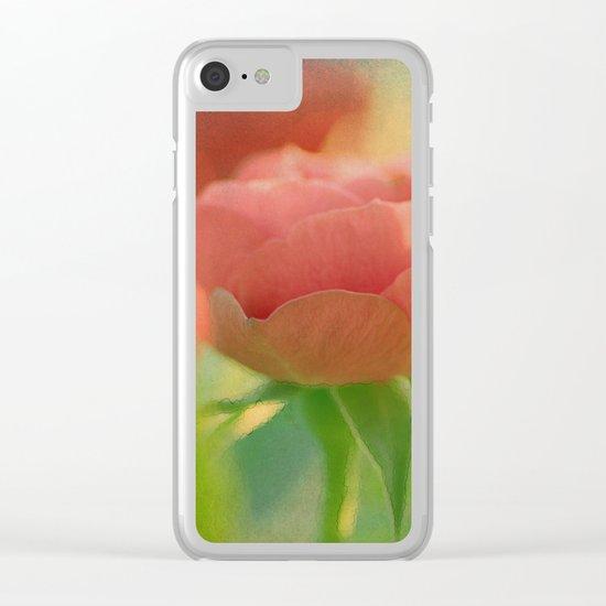 Romantic rose(5) Clear iPhone Case