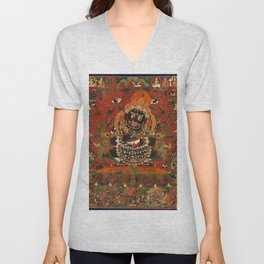 Vajrabhairava Buddhist God of Death 5 Unisex V-Neck