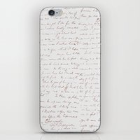 writing iPhone & iPod Skins featuring Vintage Writing by ForeverCreativity