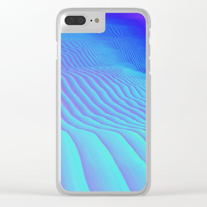 Sand Ripples Clear iPhone Case
