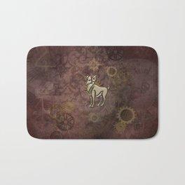 Steampunk Zodiac Aries Bath Mat
