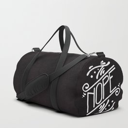 Nope Feminist Art Nouveau Ornate Hand Lettering Quote Duffle Bag