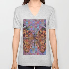 Butterfly (Painted Lady) Unisex V-Neck